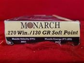 Monarch 270win 130gr Soft Point - 10rds